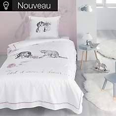 Parure de lit percale bio Amis pour la v...