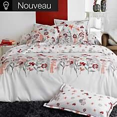 Parure de lit percale Petite Folie rouge...