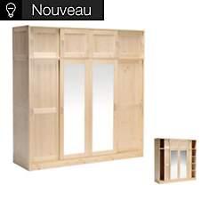 Armoire 4 portes + réhausses Wael