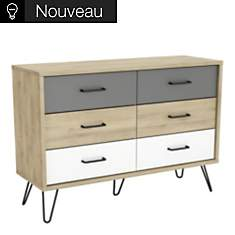 Commode 6 tiroirs Dolce