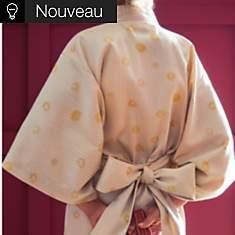 Peignoir Kimono satin Daphnée BLANC   DE...