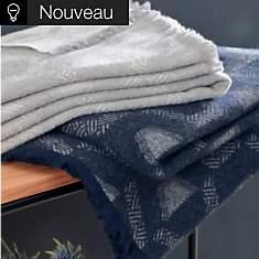 Plaid laine et coton recyclé Laurel CAMI...