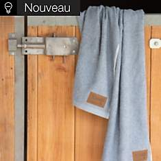 Linge de bain jean recylcé Tobias Bleu a...