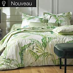 Housse de couette satin Palm House SANDE...