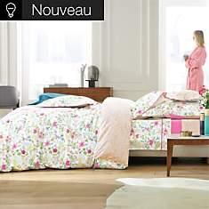 Drap housse percale Poème Pink BLANC DES...