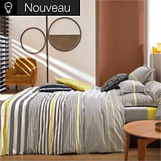 Housse de couette percale Sporting BLANC...