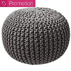Pouf Tricot XL DECOWAY, anthracite