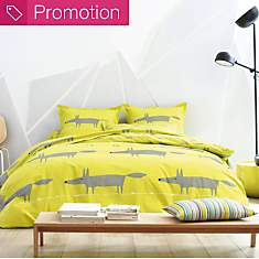 Drap percale Mr Fox SCION LIVING, Citron