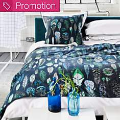 Taie percale Quill Cobalt DESIGNERS  GUI...