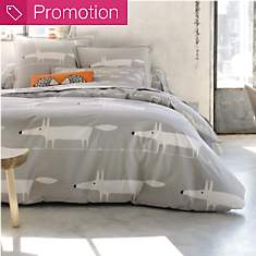 Housse de couette percale Mr Fox Gris  S...
