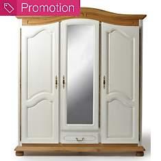 Armoire 3 portes 1 tiroir Isidore