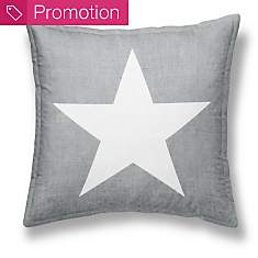 Coussin chambray Girl Etoile