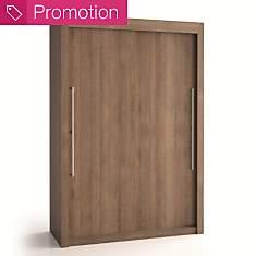 Armoire 2 portes bois H220 cm Deborah