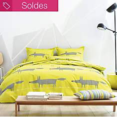 Housse de couette percale Mr Fox SCION  ...