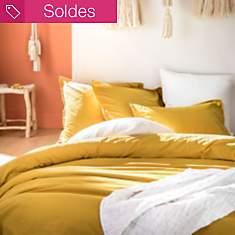 Taie coton lavé Soft Line ESSIX