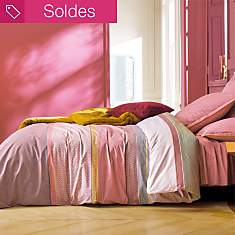 Housse de couette percale Week End  BLAN...