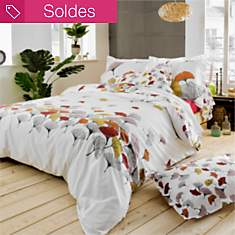 Taie percale Ginko rose TRADILINGE