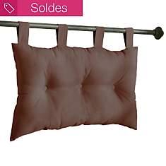 Tête de lit capitonnée chocolat