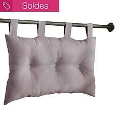 Tête de lit capitonnée taupe