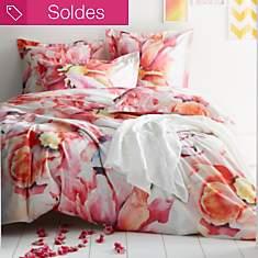 Parure de lit satin Floraison ESSIX HOME