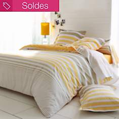 Taie percale Stripe Narcisse TRADILINGE