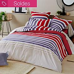 Taie percale Stripe TRADILINGE,  Pacific