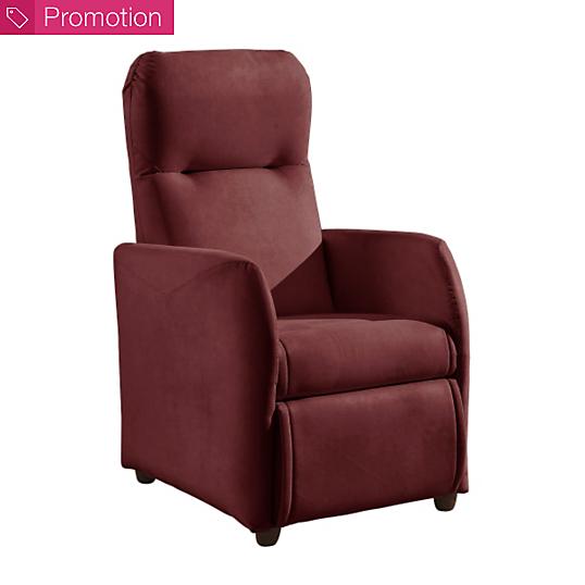 fauteuil relax microfibre jessy bultex. Black Bedroom Furniture Sets. Home Design Ideas