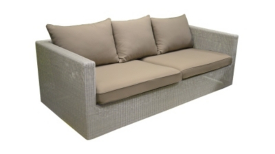 Places Meadow Blanc OCEO Avec Coussins Taupe - Canapé 3 places taupe