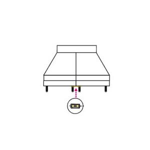 Lot de 2 plaques de liaison inox (pour  relier deux sommiers)