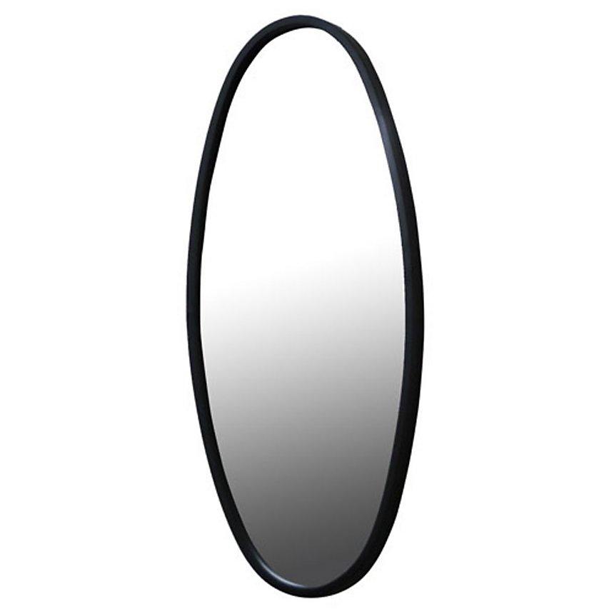 Miroir métal noir mat par lot de 3 formes ovoïde ovale rectangulaire