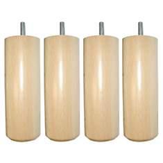 A SAISIR: Jeu de 4 pieds cylindres bois ...
