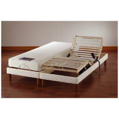 sommier de relaxation lectrique 140x190 amazing matelas sommier x x epeda lit electrique cosmo. Black Bedroom Furniture Sets. Home Design Ideas