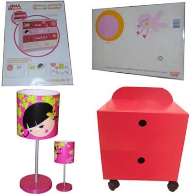 Chevet Victoire + stickers +  lampe NOLA KIDS