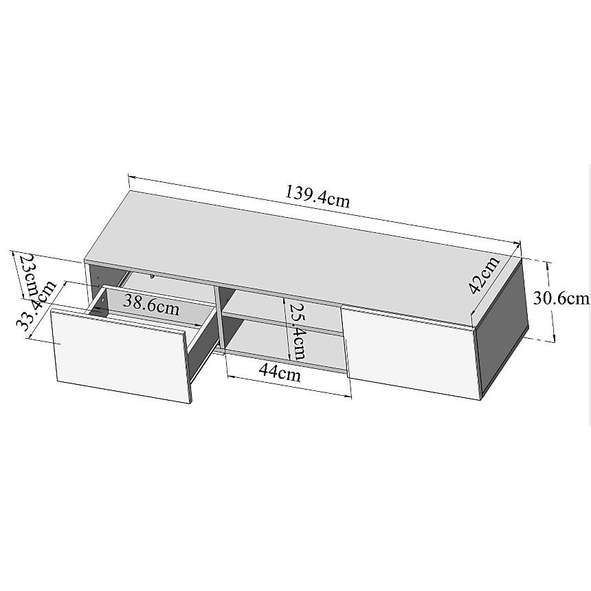 Meuble TV Orcade 2 tiroirs 4 niches