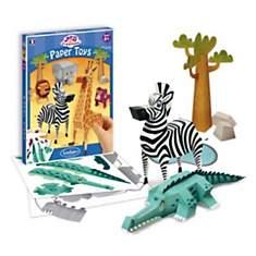 Paper toys animaux de la savane