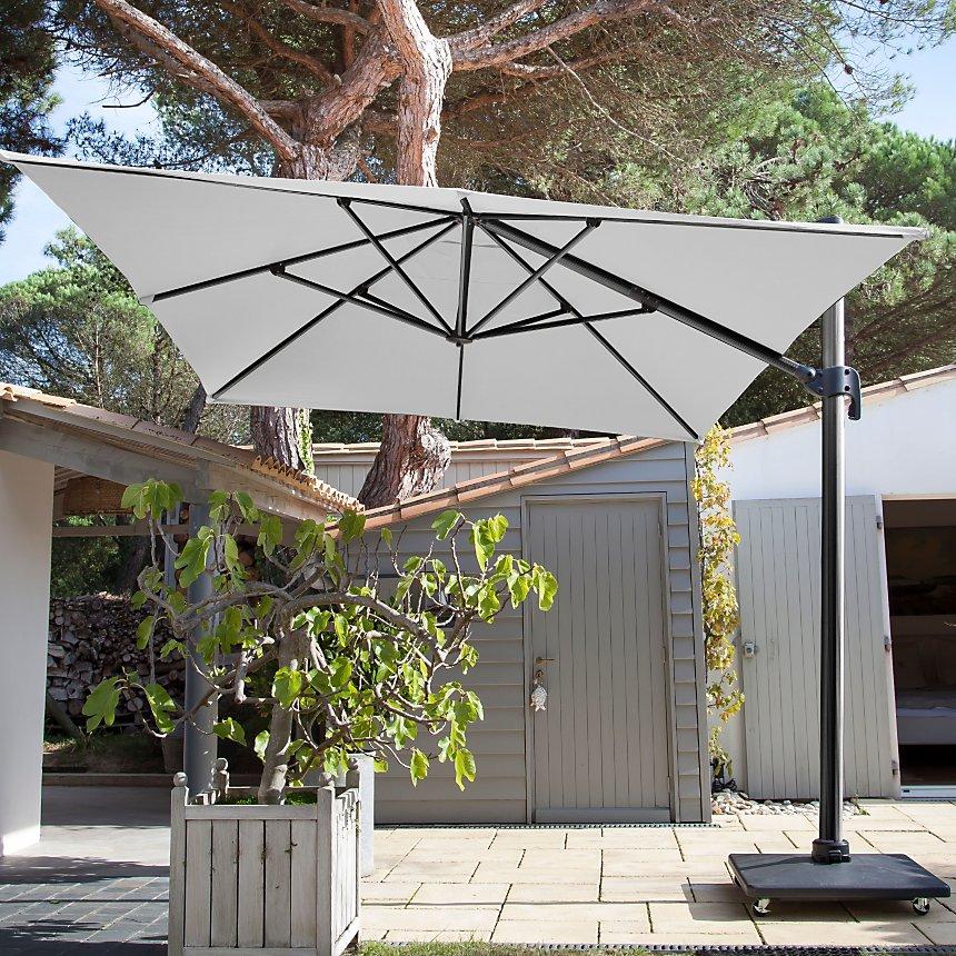 c7d38f4fae659f Parasol déporté en aluminium avec toile 3 x 4 m Pro Loisirs