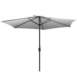 Parasol droit rond aluminium 300 cm