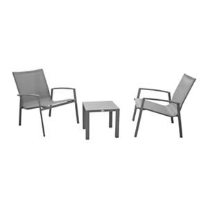 Ensemble 2 fauteuils et table basse  Palma PRO LOISIRS