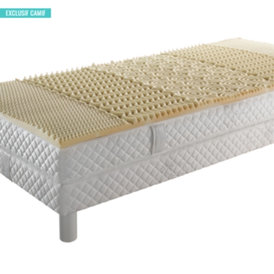 Surmatelas 5 zones OEKOSOM, mousse visco