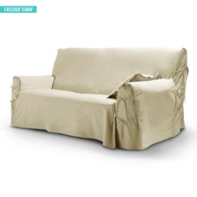 housse pour canap 3 places tutti tempo lin. Black Bedroom Furniture Sets. Home Design Ideas