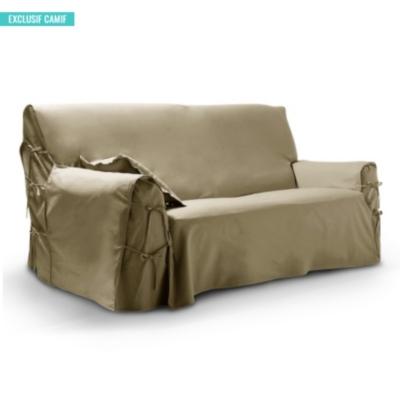 housse pour canap 3 places tutti tempo taupe. Black Bedroom Furniture Sets. Home Design Ideas