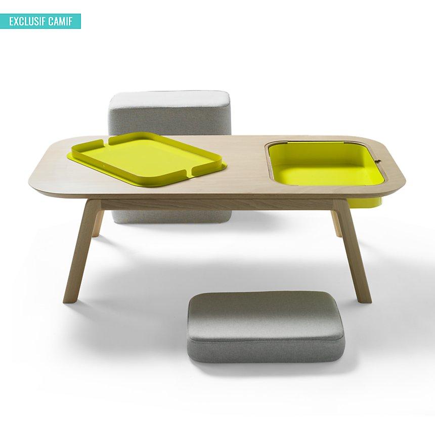 Basse Florian Pouf Et Avec Table Thomasamp; Edition Camif CasierCoussin e9WH2bEYDI