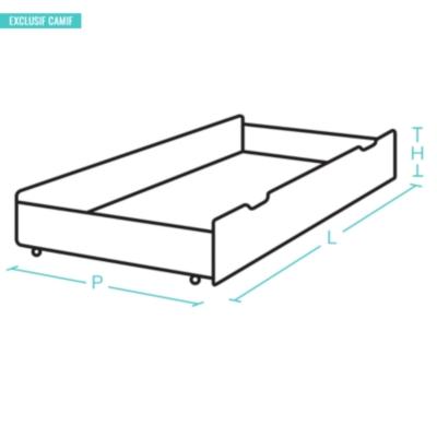 Lot de 2 tiroirs pour Tania 160 cm