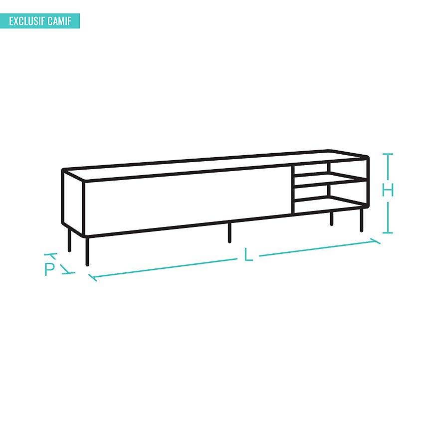Meuble TV Embellie, 2 portes 3 tiroirs
