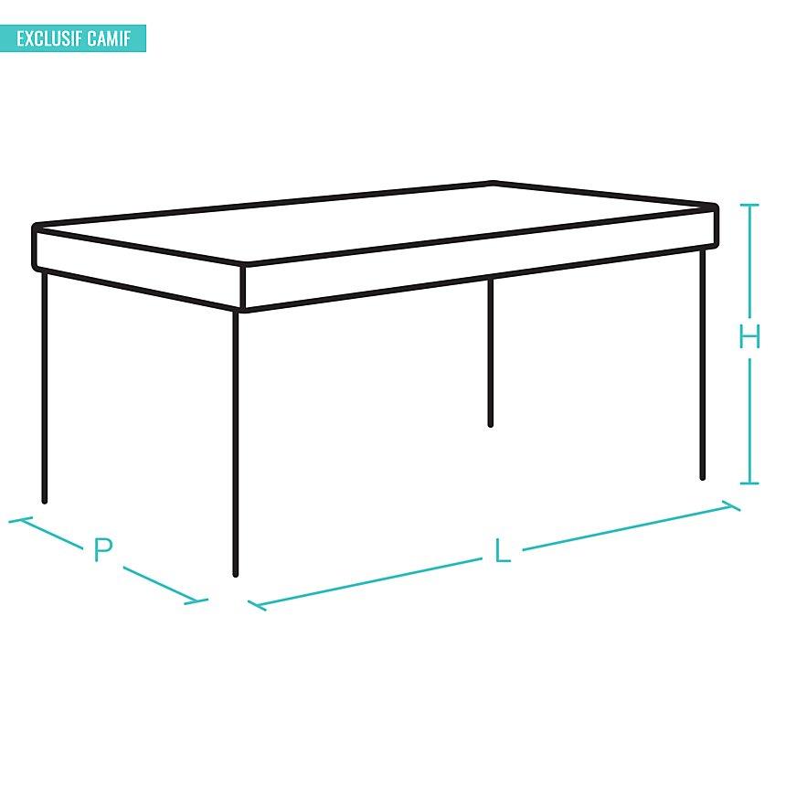 Table Embellie D115  2 allonges