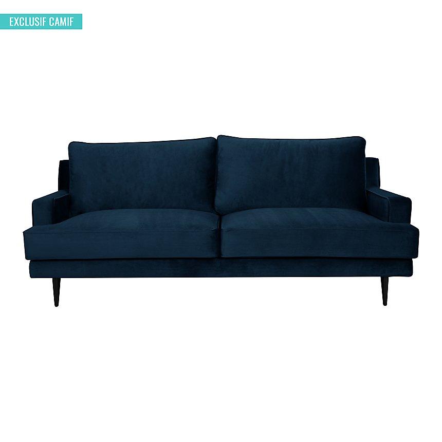 Canapé tissu velours Oscar