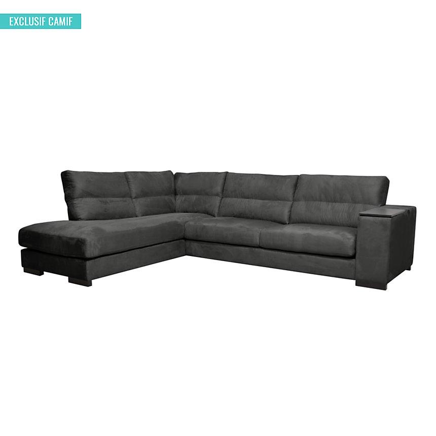 canap d 39 angle microfibre philadelphie. Black Bedroom Furniture Sets. Home Design Ideas