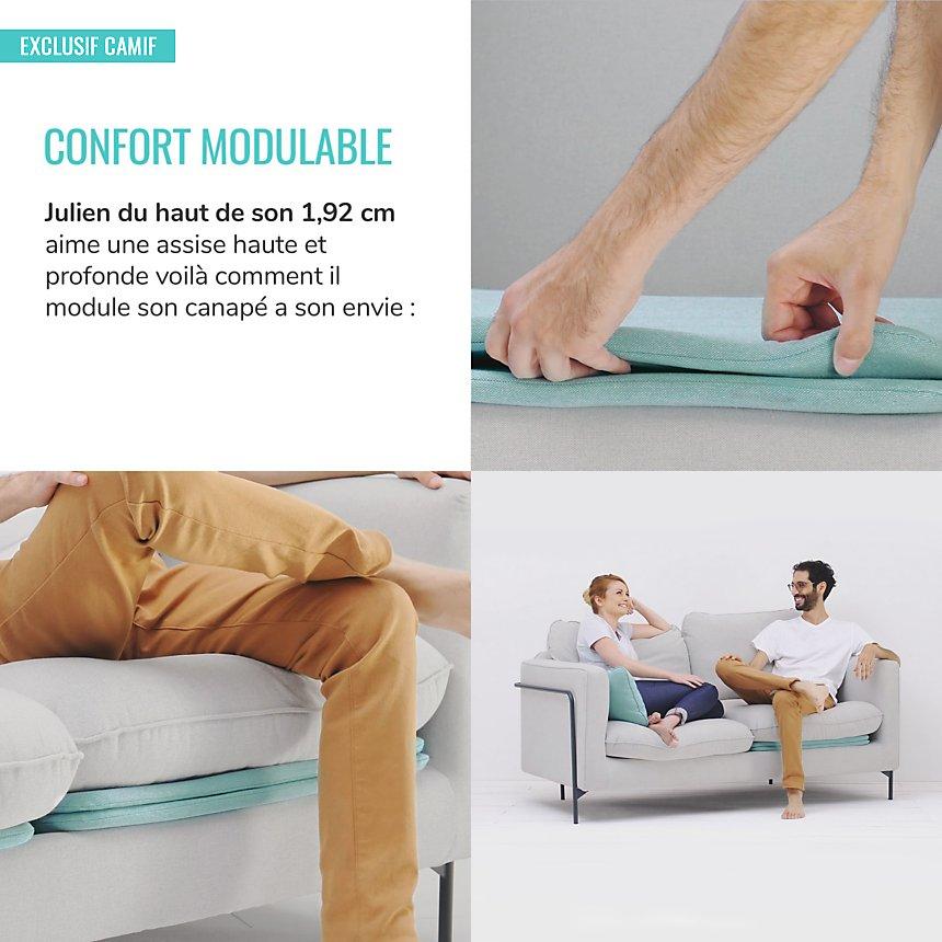 Fauteuil Eric & Julien Confort modulable  bi-couleur
