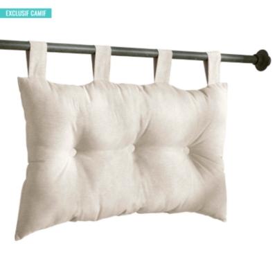 Tête de lit capitonnée écrue